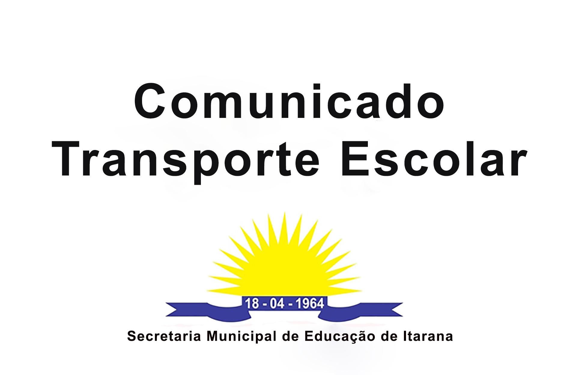 Comunicado - Transporte Escolar
