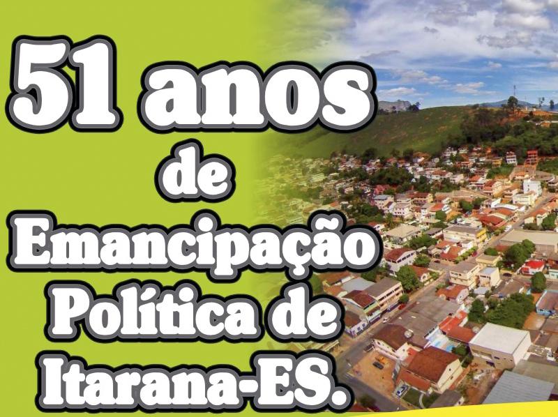 Festa de Emancipação Política de Itarana acontece nos dias 17 e 18 de abril