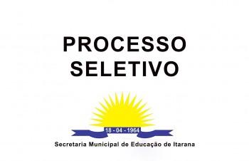 Classificação do Processo Seletivo Simplificado de Professores