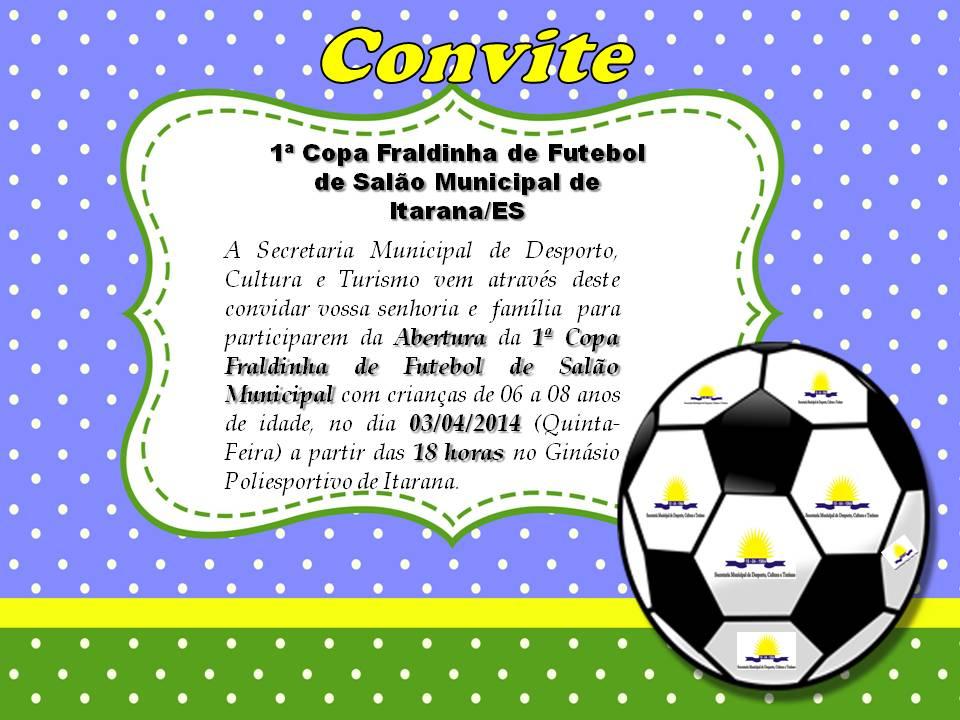 1ª Copa Fraldinha de Futebol de Salão Municipal de Itarana