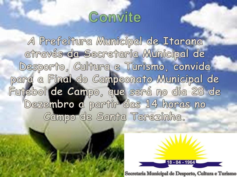 Final do Campeonato Municipal de Futebol de Campo será disputada no domingo (28)