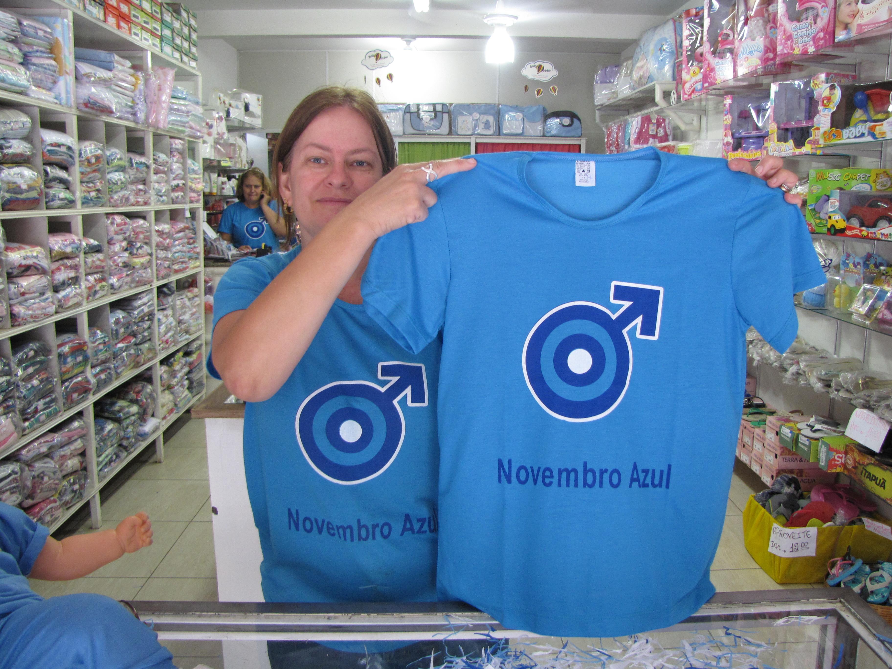 Camisetas do Novembro Azul estão sendo vendidas em Itarana