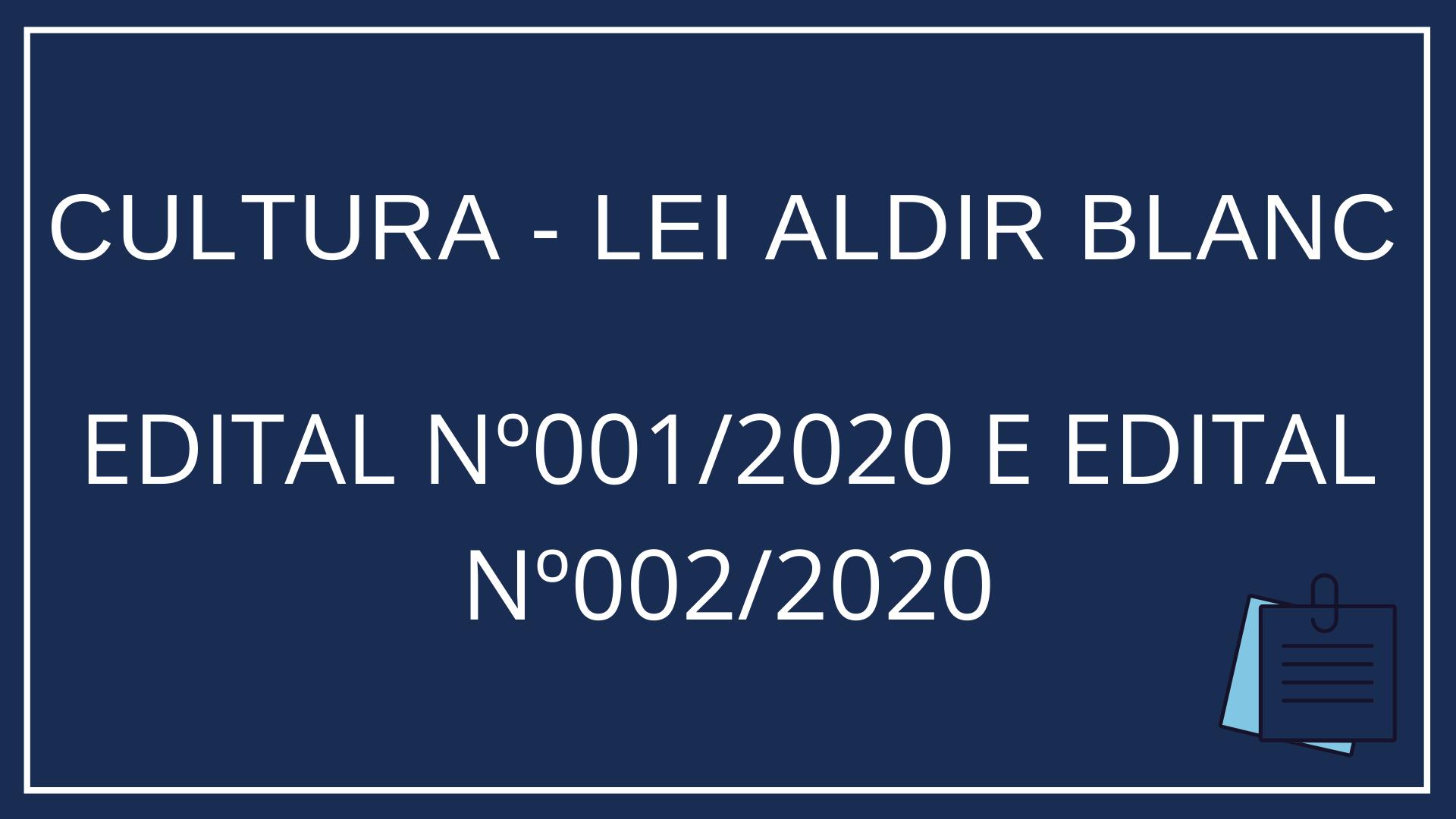 CULTURA - LEI ALDIR BLANC